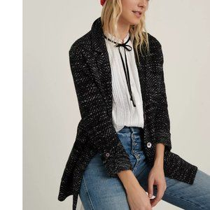 Lucky Brand French Jacquard Knit Work Coat. M